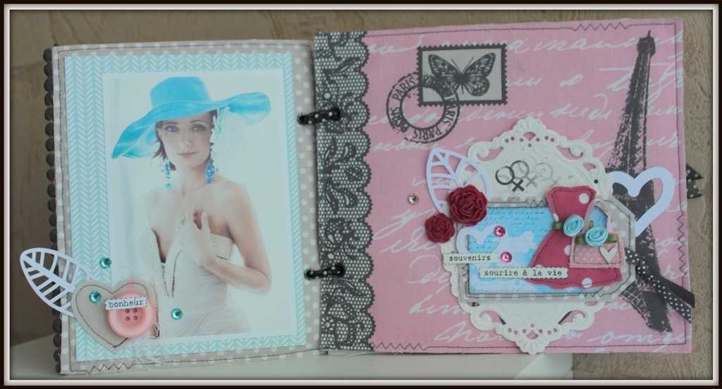 scrap-et-textile_realisation_album_tissu_post_card_from_paris_par_tribucosta_3